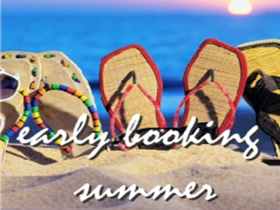 20% DISCOUNT ON YOUR SUMMER BOOKINGS