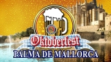 ENJOY THE OKTOBERFEST IN MALLORCA: DETAIL OF BAVARIAN CAP AND 2 PAULANER BEER!