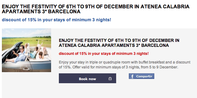 December in Barcelona - Atenea Calabria Apartaments * * *