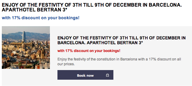 December in Barcelona - Aparthotel Bertran * * *