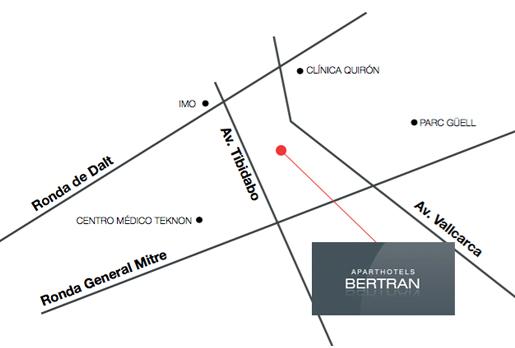 Localización Aparthotel Bertran