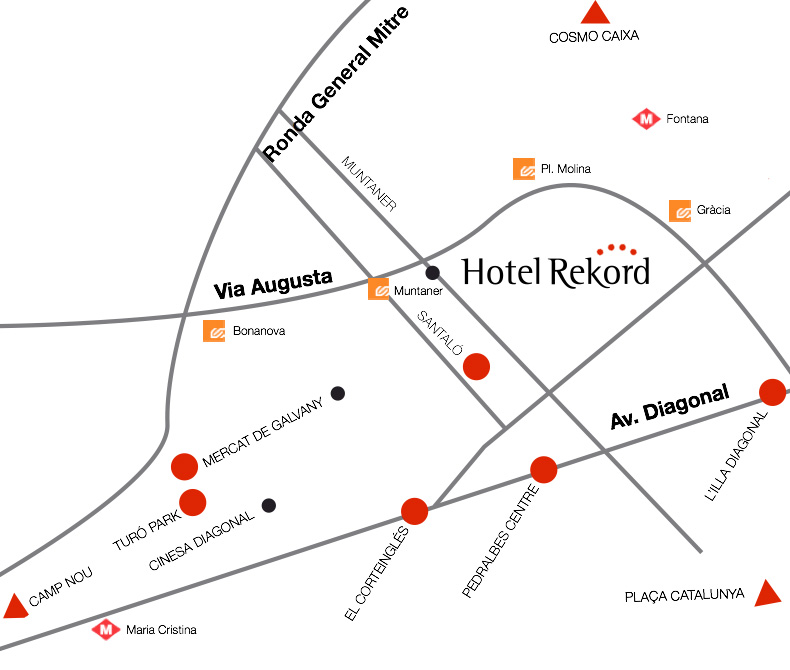 Localització Hotel Rekord